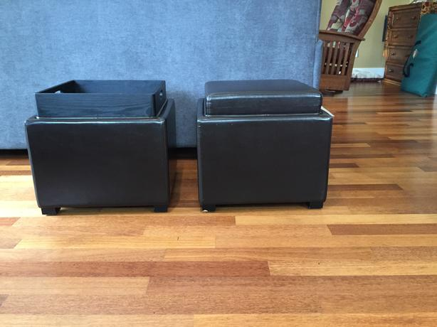 Awesome Nifty Bonded Leather Storage Ottomans For Sale Central Creativecarmelina Interior Chair Design Creativecarmelinacom
