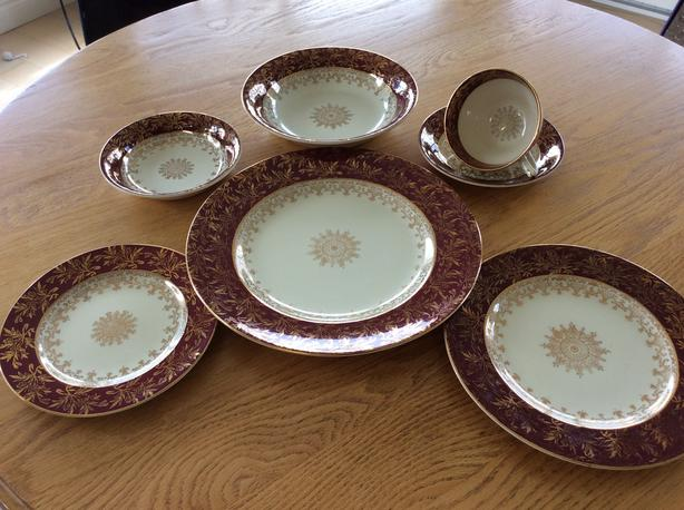 100 Year Old 12 Place Setting Dinner Service