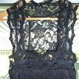 black lace long dress size 6-8 New with tags