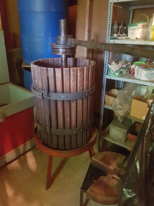Vintage Italian wine press and grinder