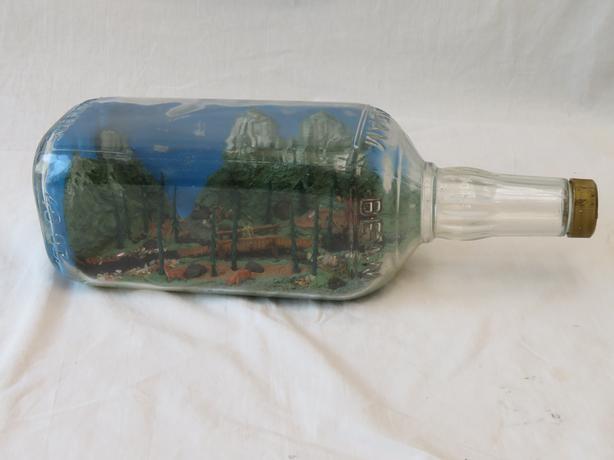 Sooke BC -  in a Bottle  - Folk Art