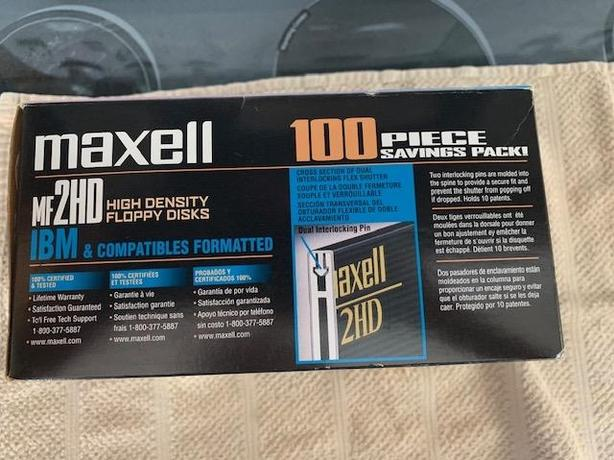 Maxell MF2HD high density formatted floppy discs.