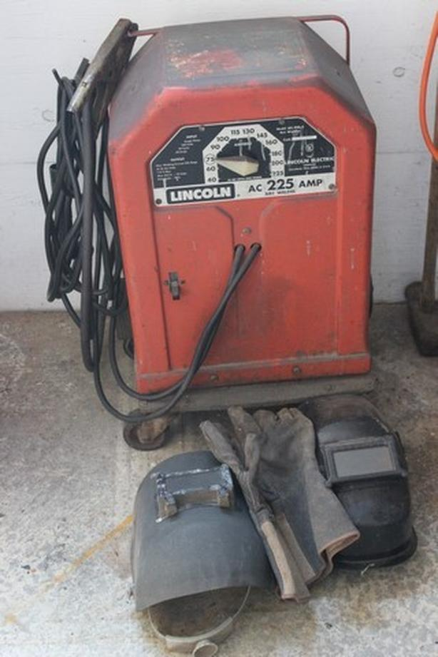Lincoln Arc Welder and Assorted Welding Rods