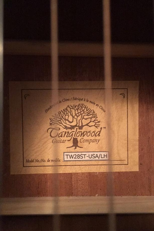 Tanglewood Left Handed Acoustic Guitar with Fort Guitar Case