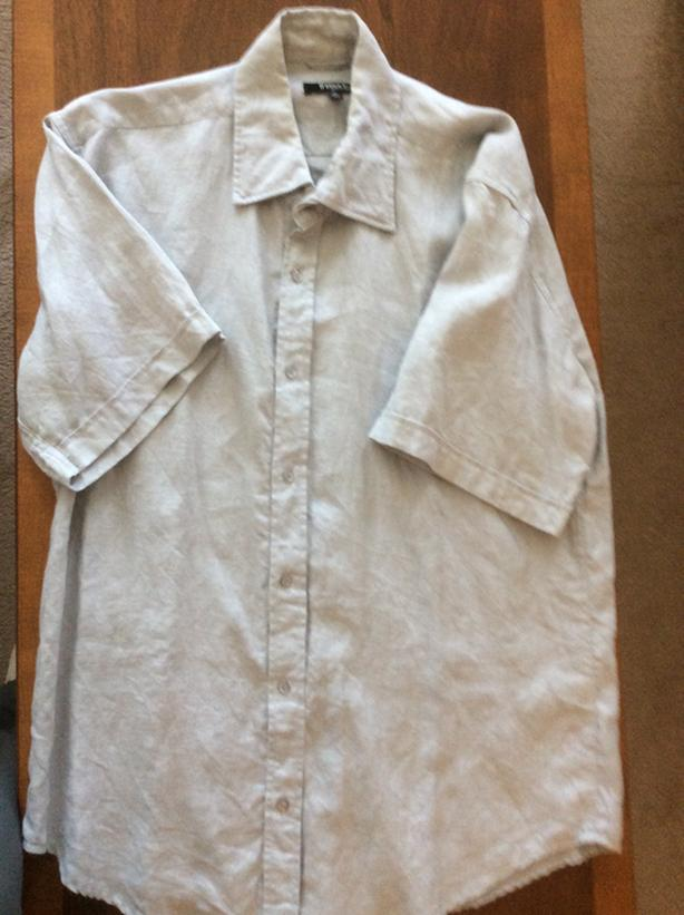 NEW. Saks 5th Ave 100% Linen Shirt. X Large