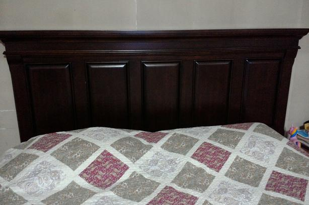 head board,box spring and rails for sale
