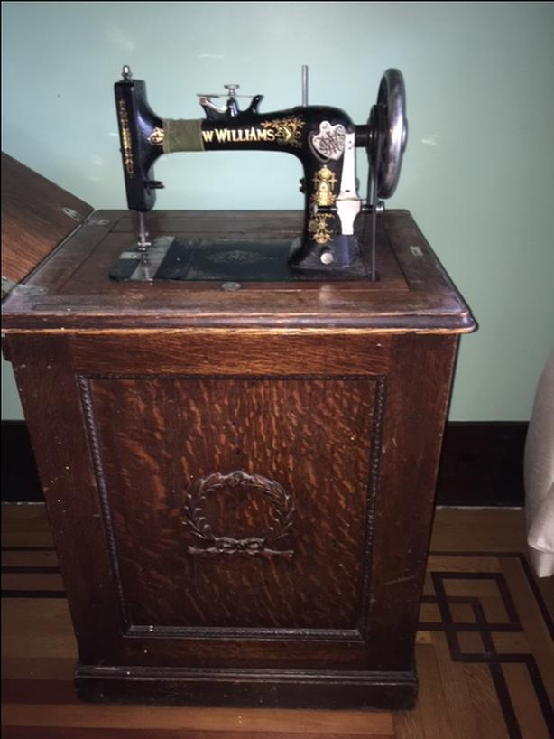 Antique New Williams cabinet sewing machine