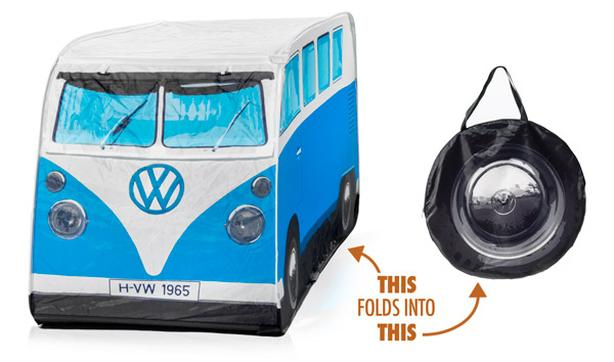 VW CAMPER VAN CHILD'S POP UP PLAY TENT-BLUE
