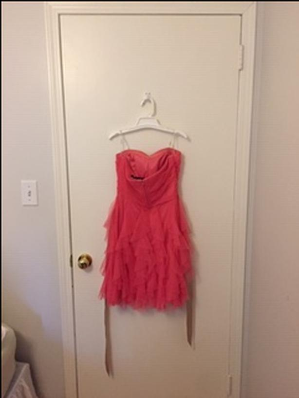 Strapless Pink Ruffle Dress