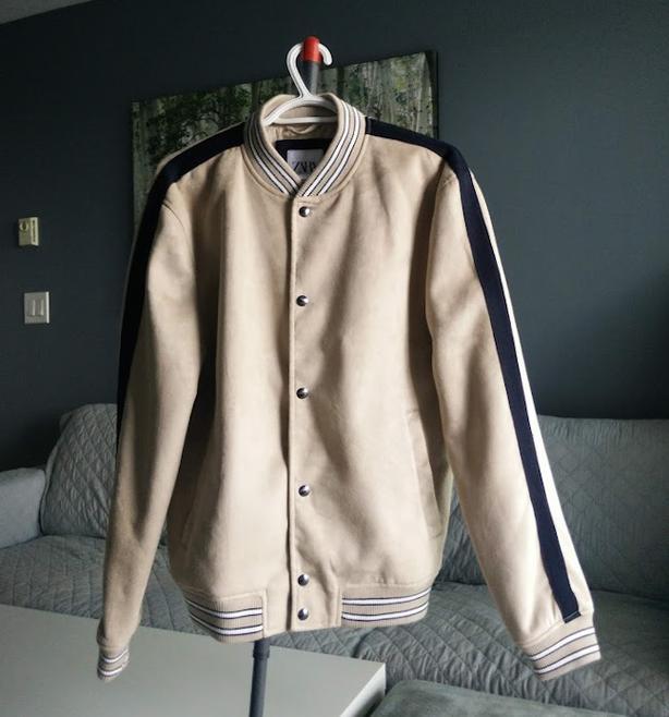 Selling Zara Brown Suede Baseball Jacket (New) - $75