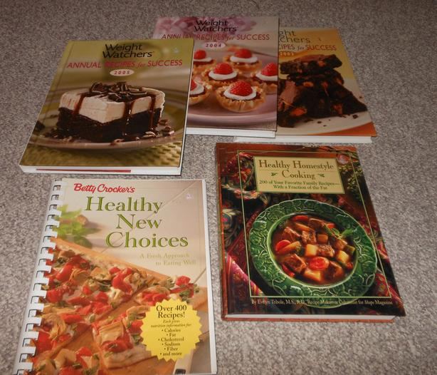 Cook book bundle - 5 books - healthy and weight watchers
