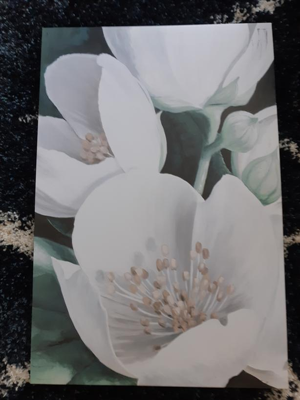 White Flowers Canvas
