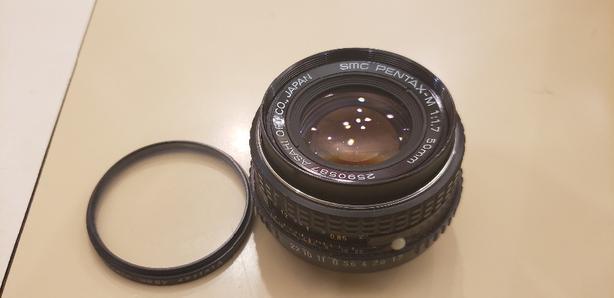 pentax 50mm 1.7 manual focus lens.