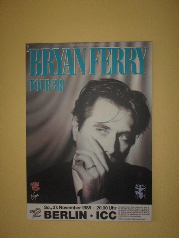 Bryan Ferry Concert poster