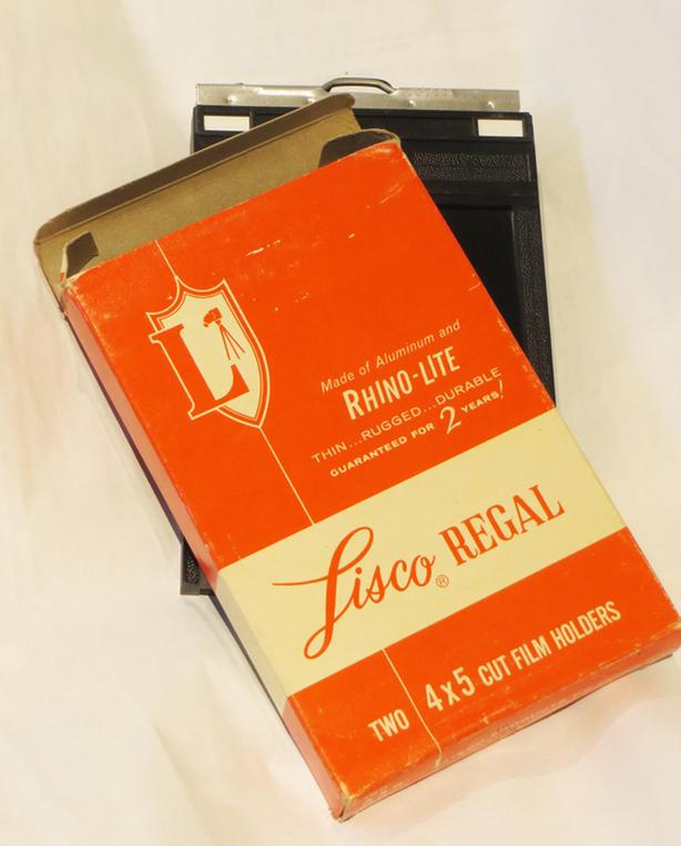 Set of two,  Lisco Regal 4x5 Large Format Film Holders