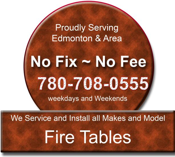 Fire Tables & Patio Heater - Repairs & installation