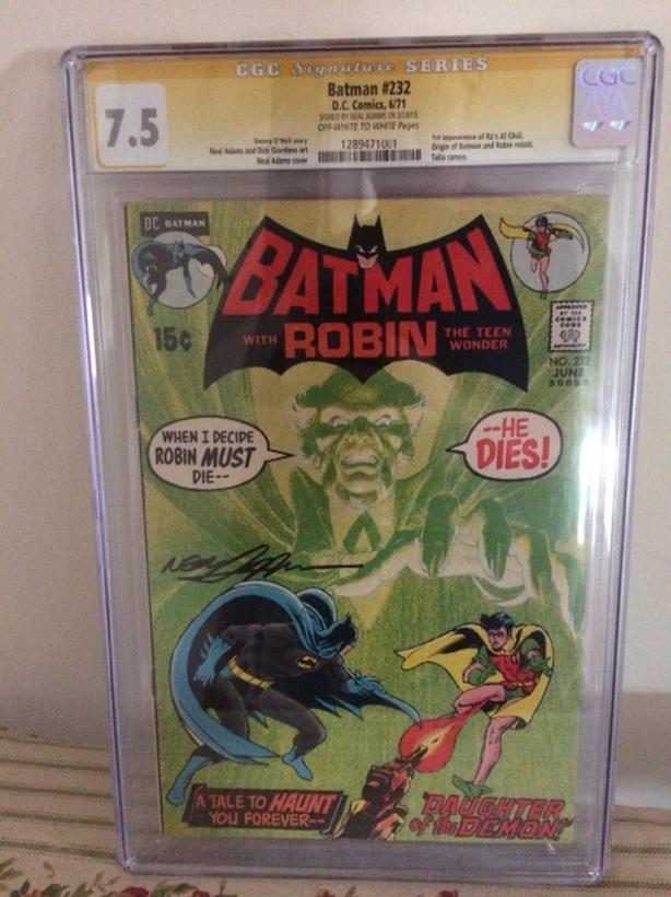 Batman 232 First appearance of Ras Al Ghul 7.5 CGC