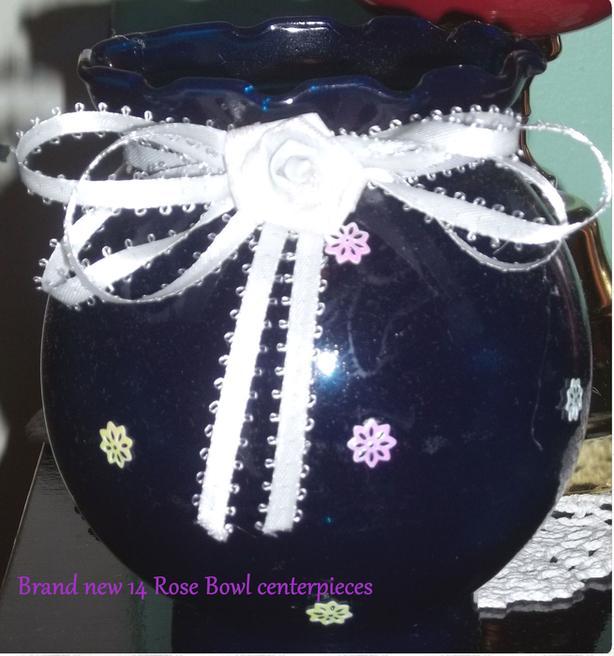 14 Rose bowl centerpieces