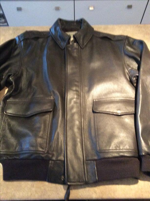 BRAND NEW  100% Goatskin Leather  Flight Aviator Bomber Jacket Size Large