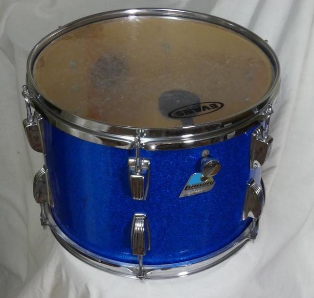 "LATE 1970'S LUDWIG B/O BADGE SPARKLE BLUE 13"" TOM"