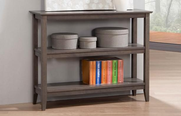 Solid Hardwood Bookshelves 2 sizes 4 stains