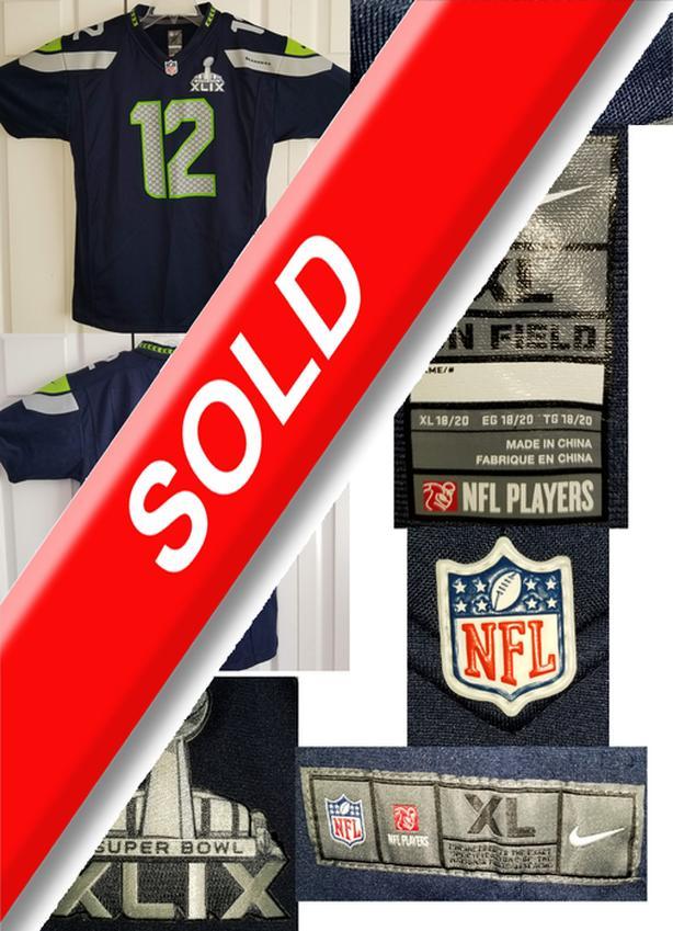 Seattle Seahawks 12th Fan Jersey Super Bowl XLIX