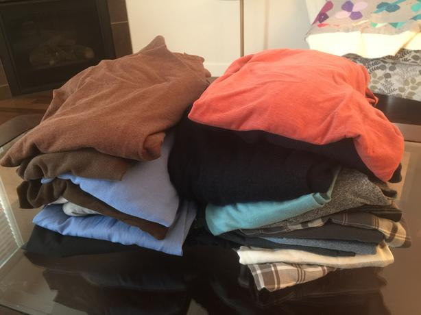 Men's Name Brand Size Large Tops Clothing LOT For Sale