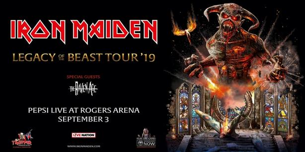 Iron Maiden Legacy of the Beast Tour Outside Victoria, Victoria