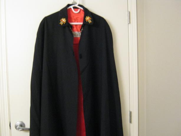 LONG BLACK CLOTH CAPE  - $25