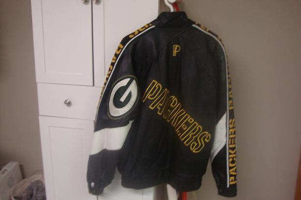 mens greenbay packers leather jacket