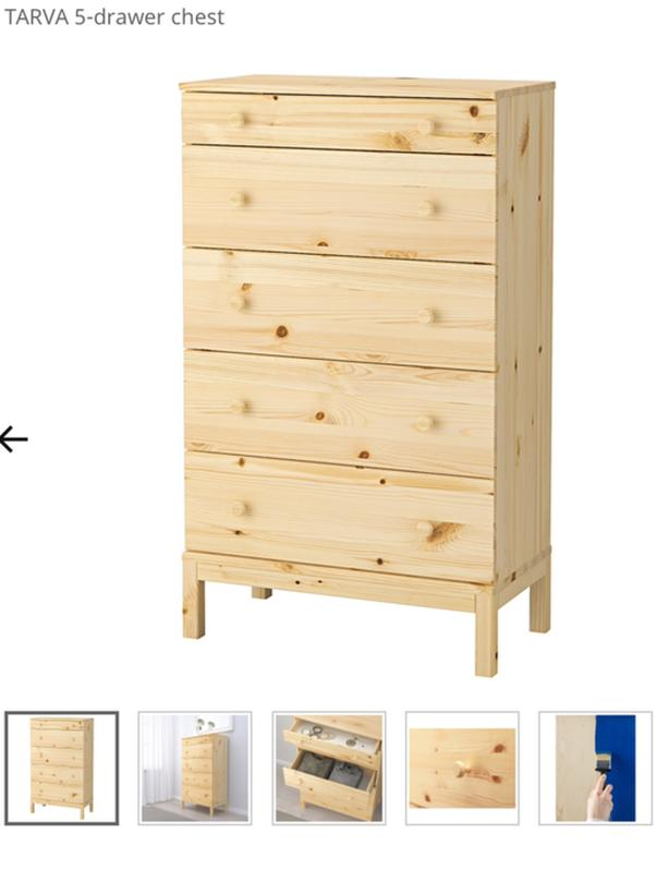 detailed look 1fcec 53a4a  Log In needed $165 · Tarva - 5 drawer chest from Ikea