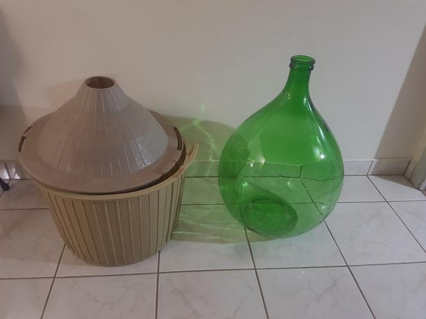 50L Glass Green Demijohns