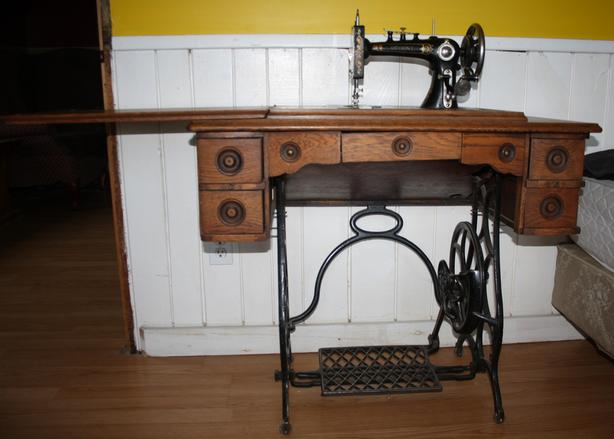 TREADLE SEWING MACHINES, 3 available