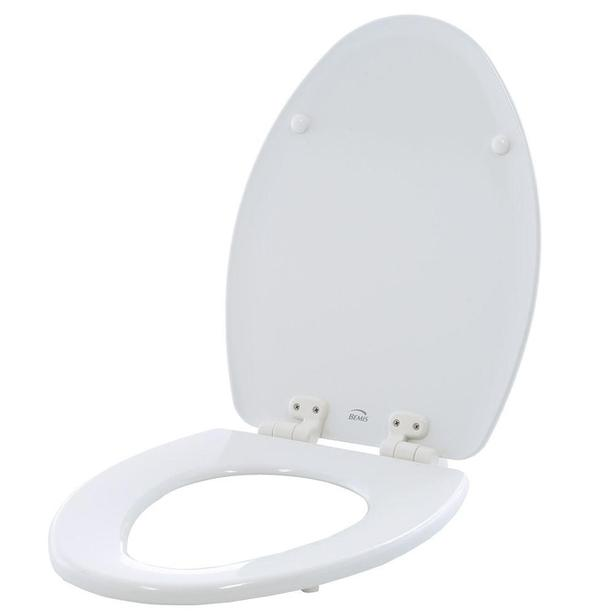 Awe Inspiring Toilet Seat Bemis Elongated Closed Front In White With Creativecarmelina Interior Chair Design Creativecarmelinacom