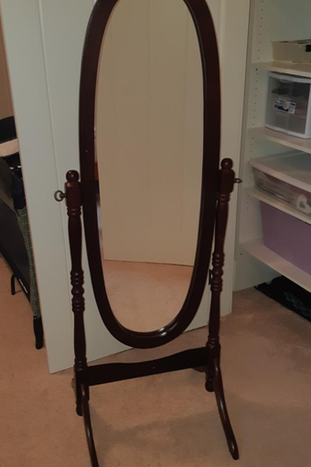 Solid Wood Stand Up Mirror
