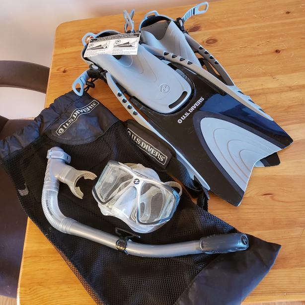 US Divers Snorkel Set never used $20