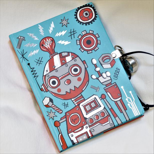 Robot Kid's Diary (with lock!)