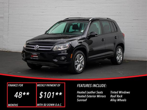 2012 Volkswagen Tiguan Highline 4motion - FULLY LOADED - LOCAL BC SUV!