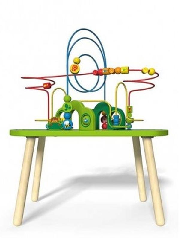BEAD MAZE AND TRAIN ACTIVITY TABLE - HAPE