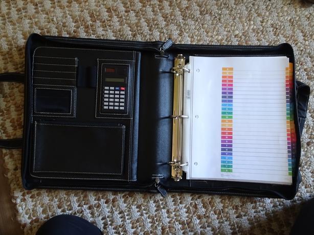 Business binder and small storage box