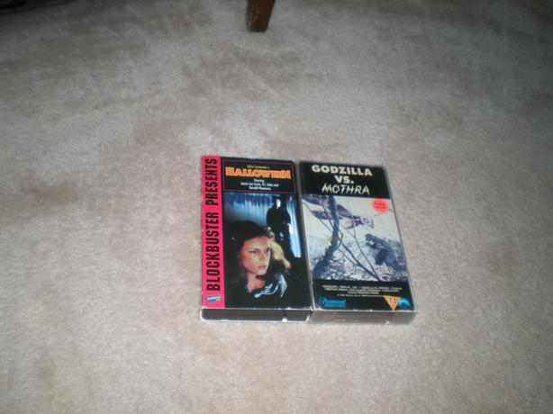 For Trade: Halloween & Godzilla vs Mothra VHS Movies