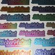 100 Fully Customized Premium Metallic Dealer Identification ID Name Tag Stickers