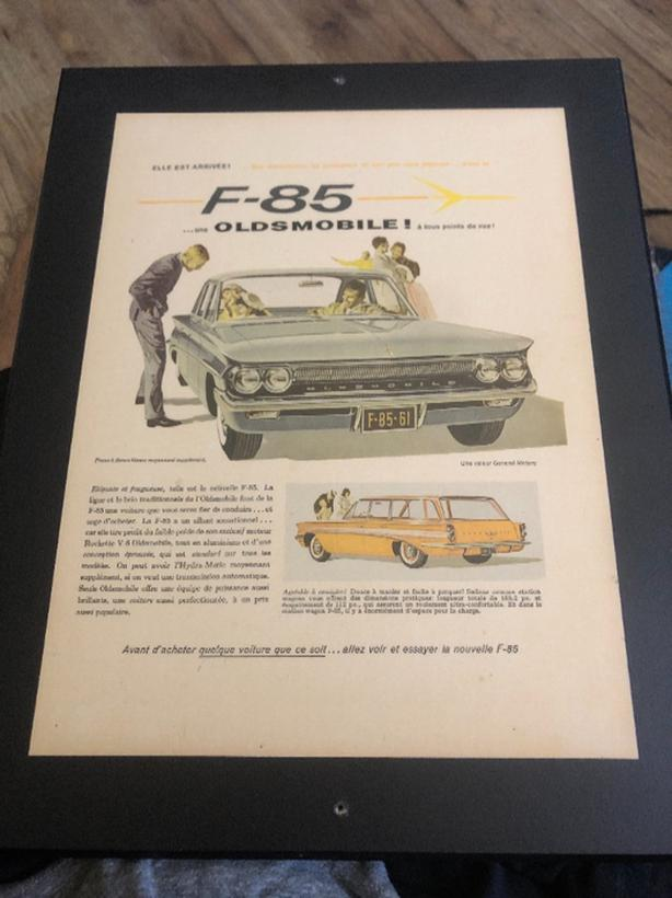 Oldsmobile F-85 wall art