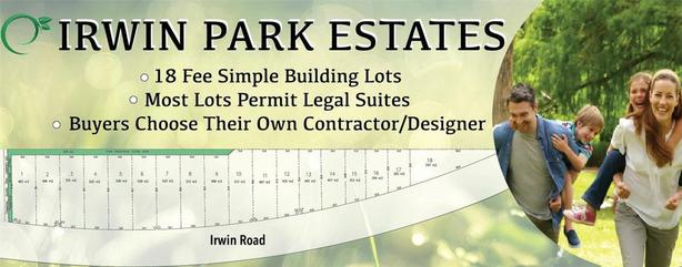 New Subdivision in a park-like setting with lots starting from  $279,900