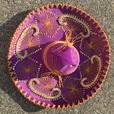 Large Purple Hand-Beaded Sombrero