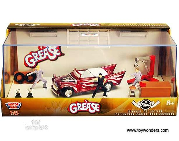 Grease Motormax Reel Rides Diorama (Red Ford 1:43 Die-cast)