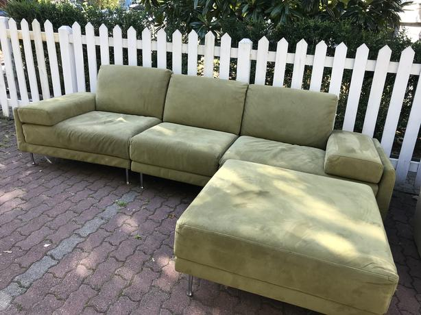 FREE: Sectional Sofa, Leather couch and modern coffee table