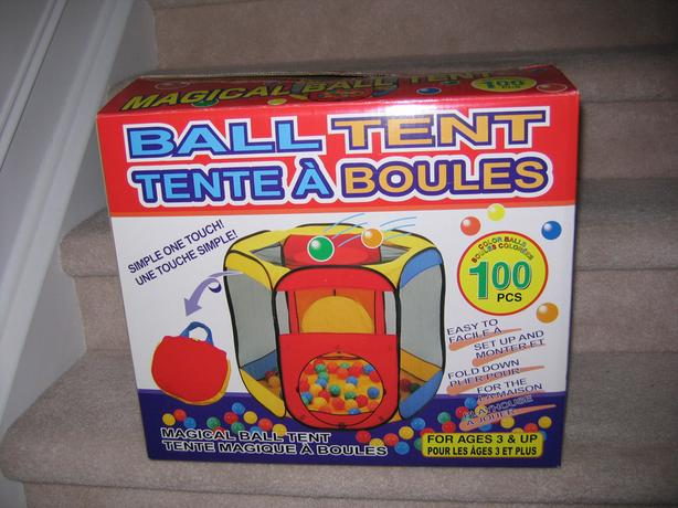 **** IN BOX & GREAT CONDITION, LIKE NEW: LARGE Ball Tent ****