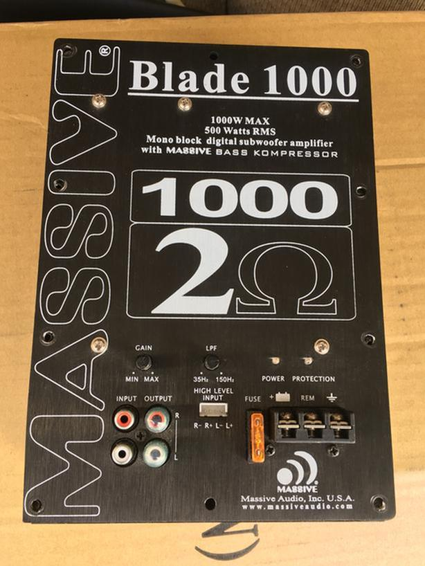 **Reduced - Massive Audio Blade 100 Amp