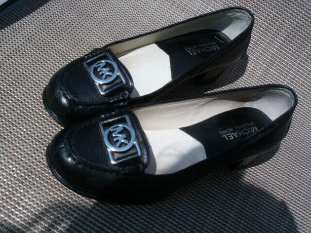 Michael kors shoes black -Leather-MK-Logo-Loafers